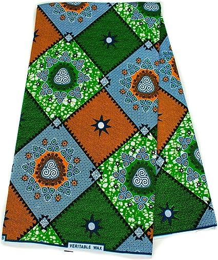 6 yards African Fabric Ankara Fabric African Prints Blue Fabric