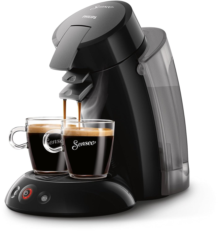 Philips Cafetera de monodosis de café HD7818/22 HD7818/22-Senseo Original XL, Color, 1450 W, 2 Cups, 0.35, plástico, Negro