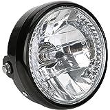 """Moto Phare, OSAN 7"""" Phare Moto H4 35W Amber LED Clignotants pour Harley Bobber Dyna"""