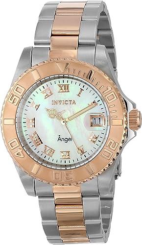 Invicta 14367 ángel De La Mujer Analog Display Reloj Dos Tono De Cuarzo Suizo Invicta Watches