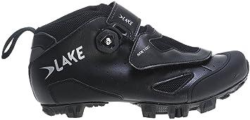 Lake Cycling 2017 Men's MX180 Mountain Cycling Shoes - Black (Black - 39)