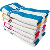 Space Fly Cotton Striped Hand Towels High Absrobent, Size: 11X 17 inch (Set of 6)