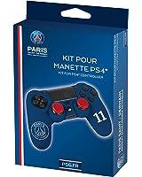 Subsonic Kit pour manette PS4 (housse + caps) - Silicone pour manette playstation 4 - Licence officielle PSG - Paris Saint Germain - Bleu et blanc