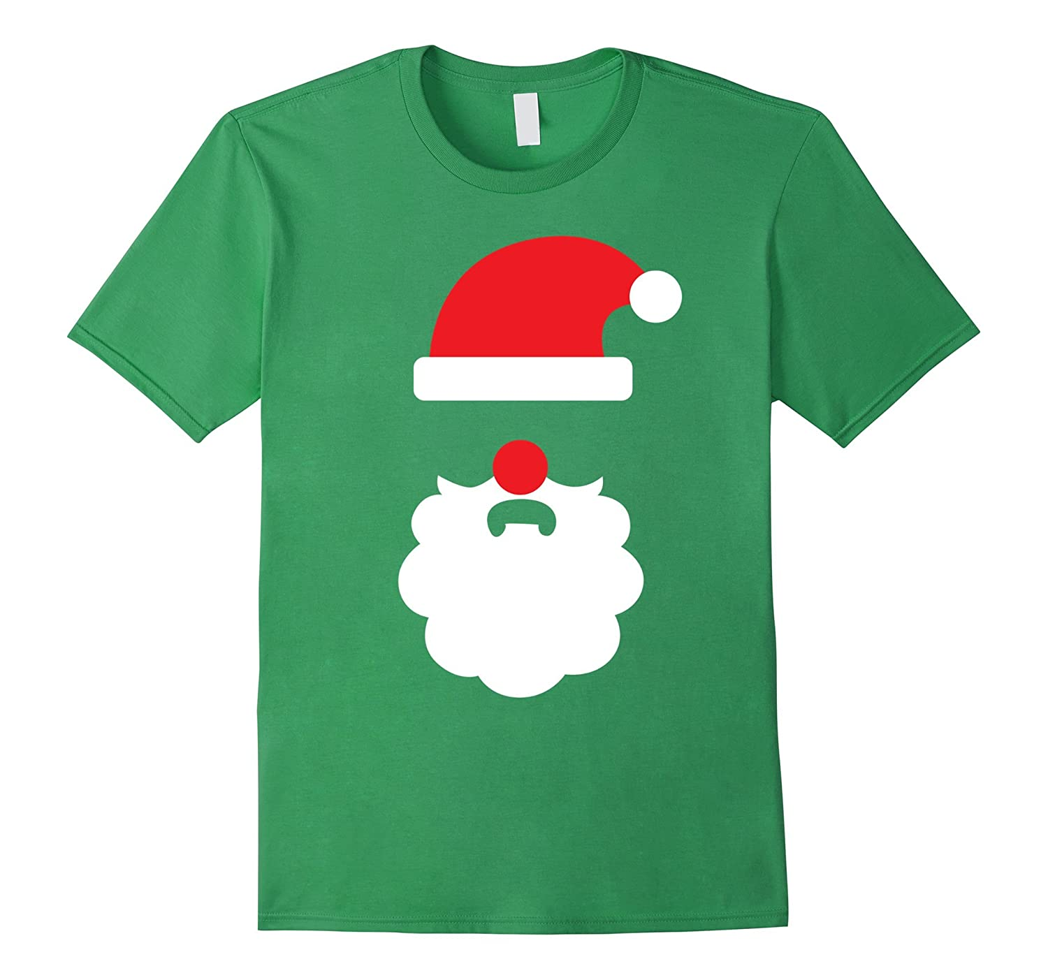 Ugly Christmas Sweater Santa Beard Tee – Mens Womens Kids-RT ...