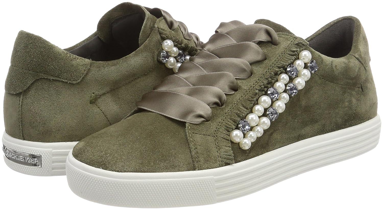 Kennel und Schmenger Damen Sohle Town Sneaker Grün (Salvia/Pearl Sohle Damen Weiß) 55f672