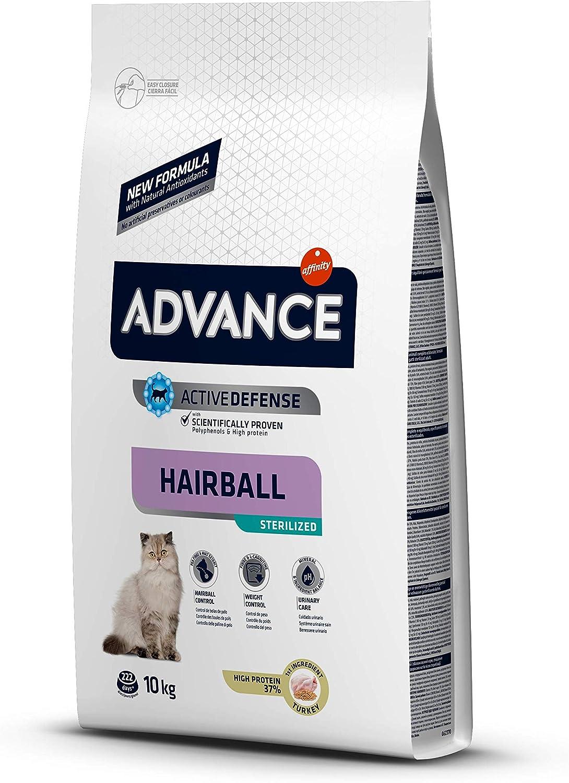 ADVANCE Hairball Pienso para Gatos Esterilizados - 10Kg