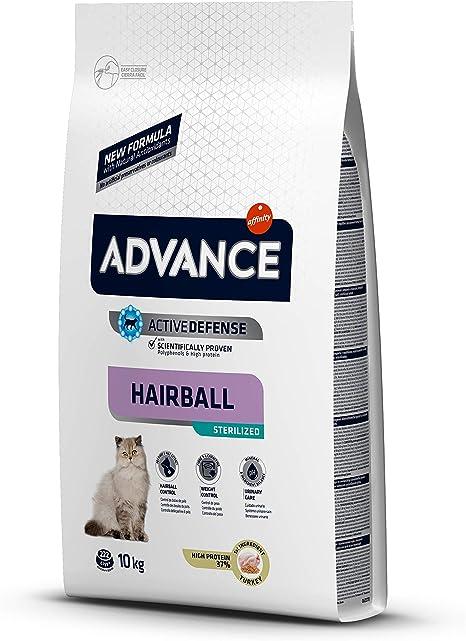 Advance Hairball Pienso Para Gatos Esterilizados 10kg Amazon Es Productos Para Mascotas