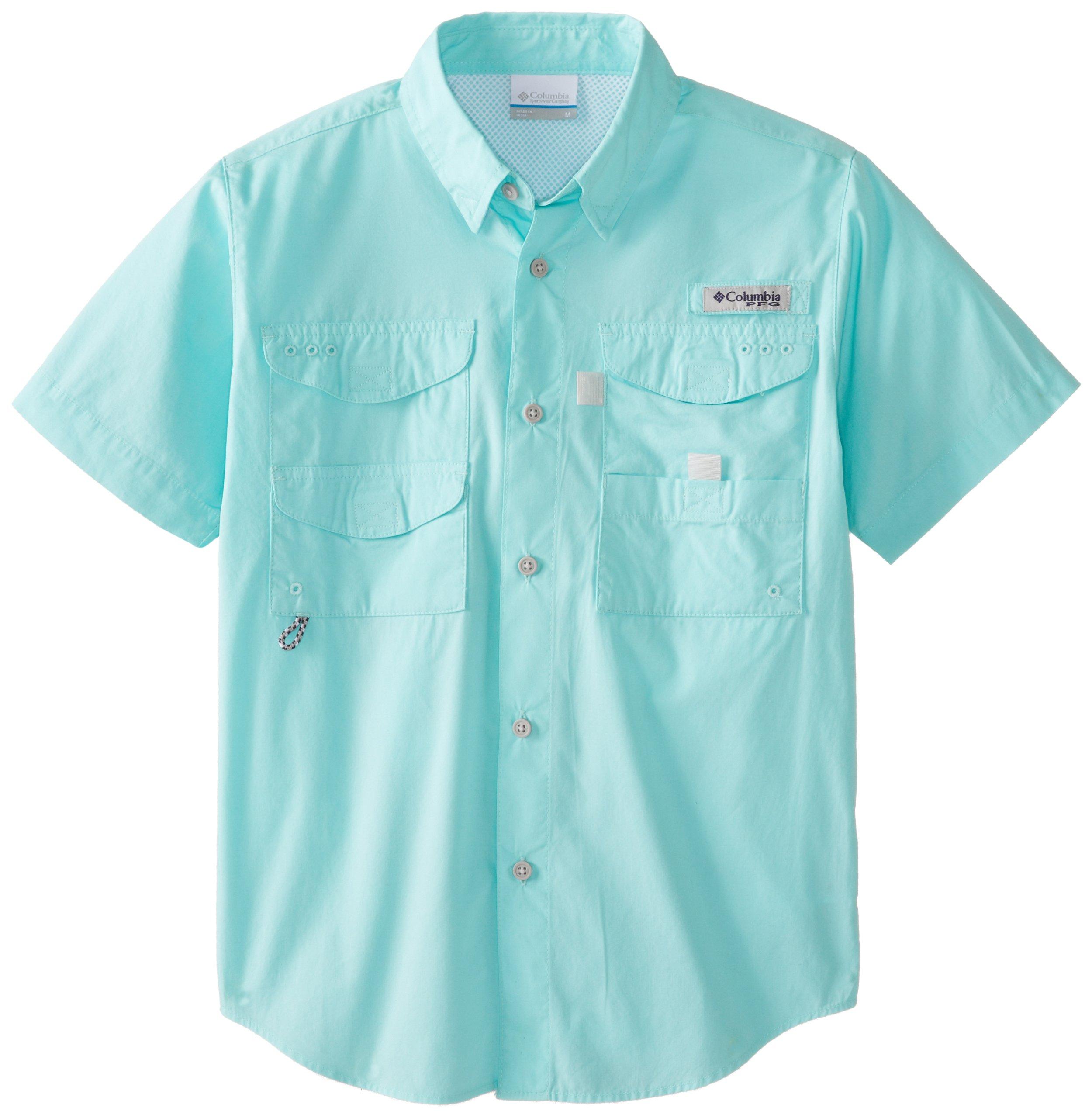 Columbia Boy's Bonehead Short Sleeve Shirt (Youth), Gulf Stream, XX-Small
