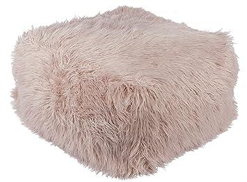 Prime Amazon Com Diva At Home 24 Blush Pink Faux Fur Indoor Short Links Chair Design For Home Short Linksinfo