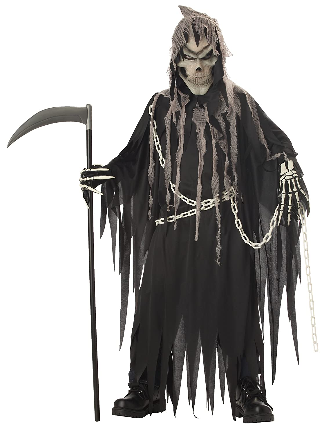 Glow-In-The-Dark Kids Halloween Costumes: California Costumes Toys Mr. Grim