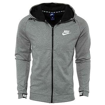 Nike M NSW Av15 FZ FLC Sudadera, Hombre, Gris Oscuro/Negro/Blanco, 2XL: Amazon.es: Deportes y aire libre
