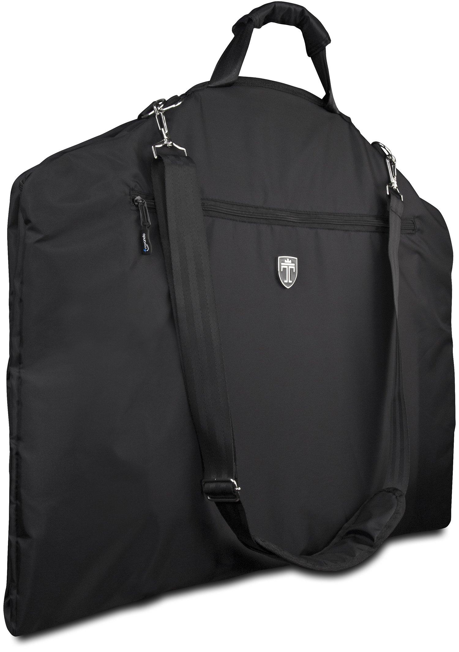 TRAVANDO Garment Bag/Suit Dress Carrier with Laptop Compartment | Business Travel Cover | Clothes Storage Luggage