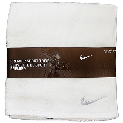 Nike Premier Toalla de Manos Deportiva para Fitness 40x80 cm - Blanco