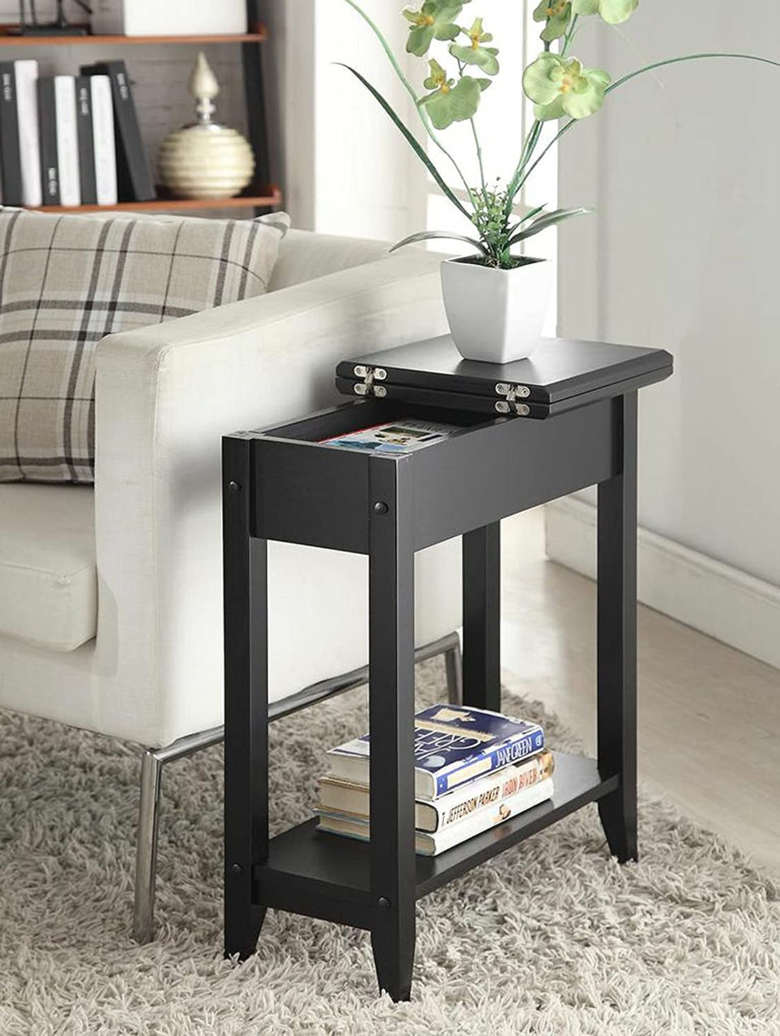 Beautiful Narrow End Tables Living Room