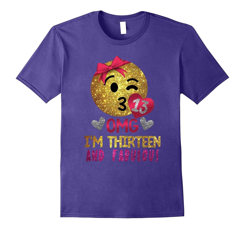 Girls 13th Birthday Emoji Gift - I'm Thirteen and Fabulous-ANZ