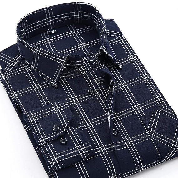 Amazon.com: KEBINAI 2018 Winter Flannel Casual Shirt Men Shirts Long Sleeve Chemise: Clothing