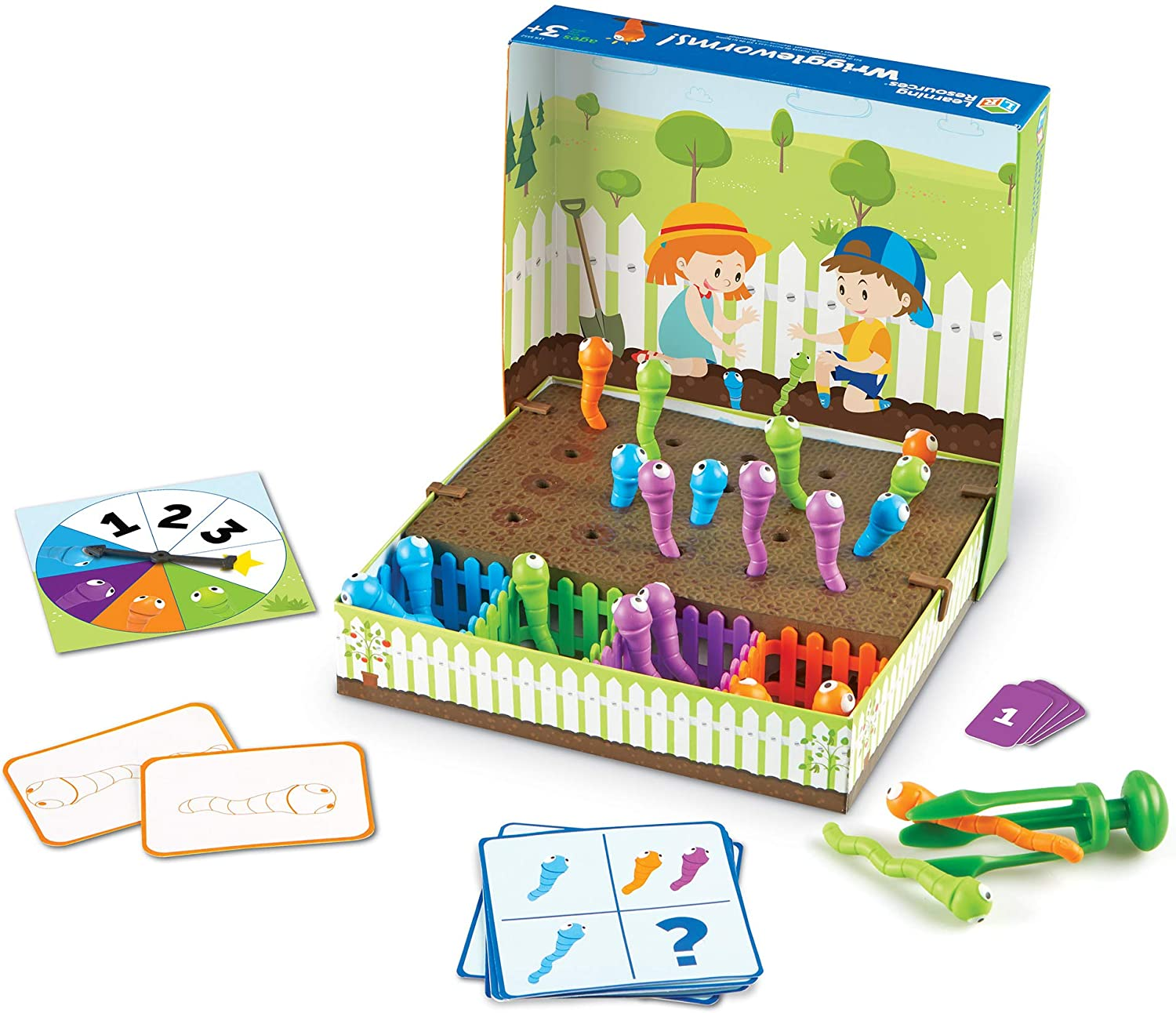Learning Resources Wriggleworms! Fine Motor Activity Set, Toddler Fine Motor Skills, Easter Gifts for Kids, Ages 3+