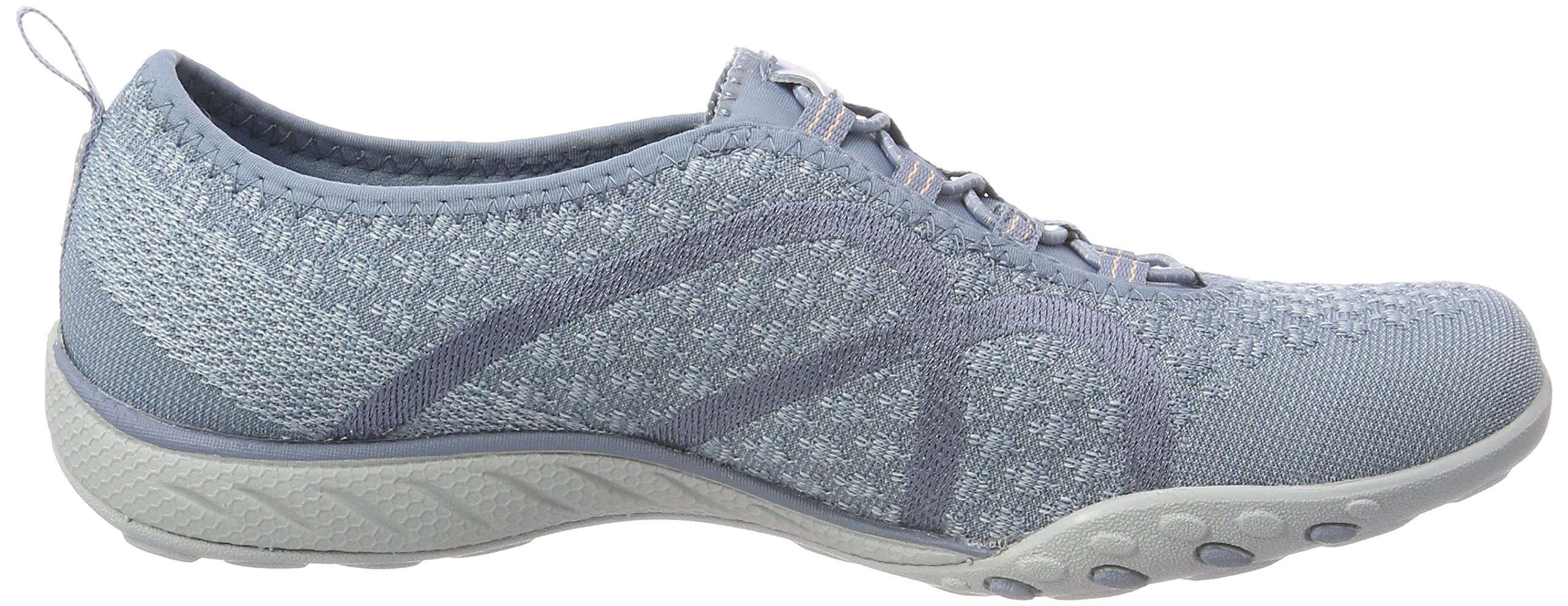 Skechers Relaxed Fit Breathe Easy Fortune Knit Womens Bungee Sneakers Blue 8 by Skechers (Image #6)