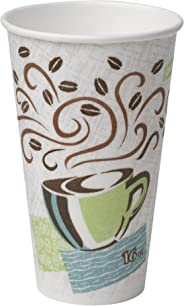 Dixie PerfecTouch 16 oz. Insulated Paper Hot Coffee Cup by GP PRO (Georgia-Pacific), Coffee Haze, 5356CD, 1,000 Count (50 Cup