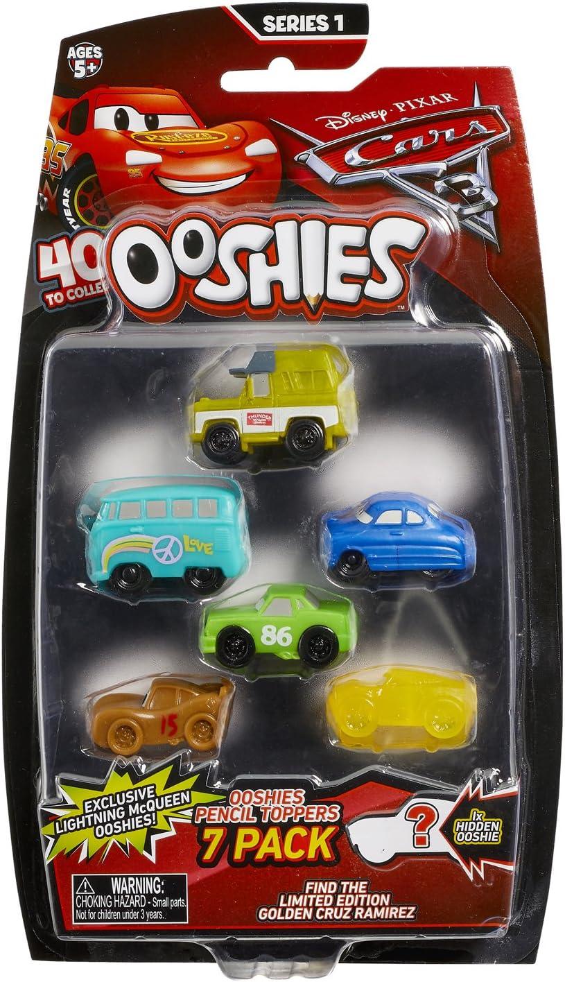 Ooshies – 76459.4330 – Pack 7 Figuras Cars 3 – Puntas para lápiz bolígrafo Fieltro – Modelo Aleatorio: Amazon.es: Juguetes y juegos