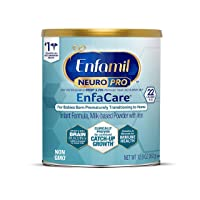 Enfamil NeuroPro EnfaCare Premature Baby Formula Milk Powder 12.8 oz. Immune Support Brain Development 22 Calories/fl. oz. Supports Catch-up Growth DHA MFGM Vitamins Minerals Protein, Package May Vary
