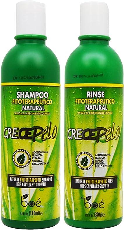 BOE Crece Pelo Shampoo + Rinse 12 oz Combo Set!! by BOE: Amazon.es ...