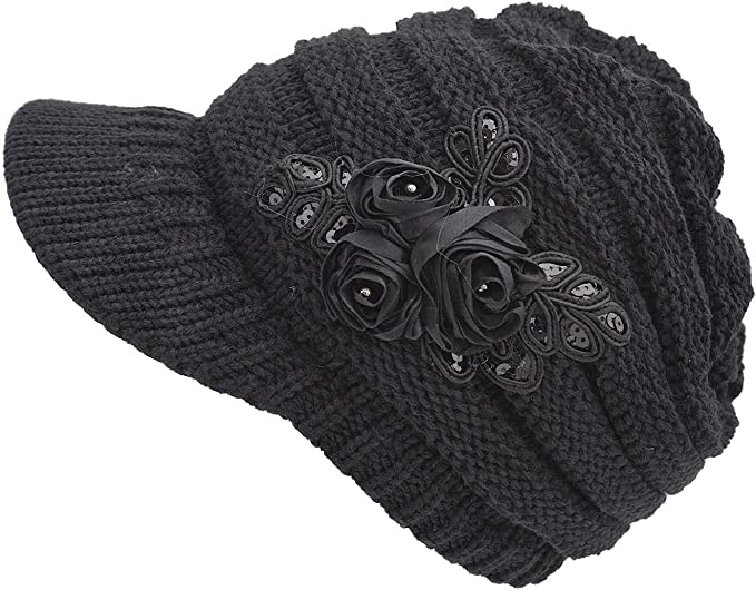 Tuopuda Crochet Invierno Beanie Gorro de Punto Caliente Cozy ...