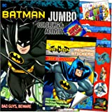 Batman Coloring Stickers Books Set with Reward Stickers, Coloring Pages, Games, and Activities Bundle Includes…