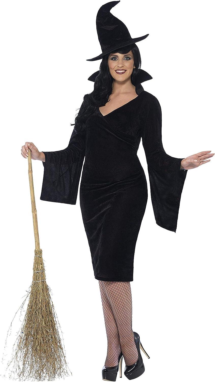 Smiffys - Disfraz de Bruja, para Mujeres, Color Negro (44351X3 ...