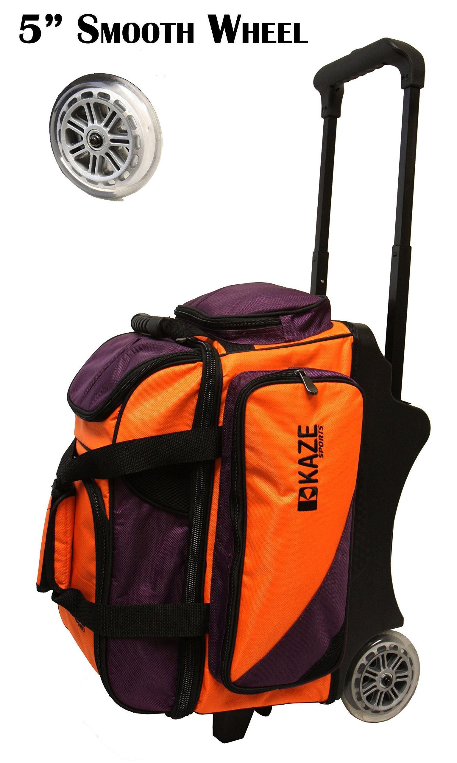 KAZE SPORTS 2 Ball Bowling Roller, Orange/Purple