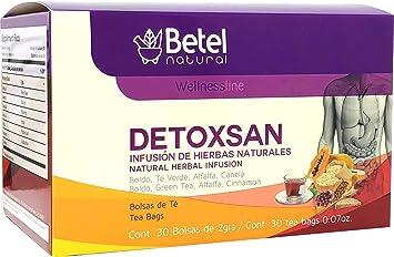 Amazon.com: Detoxsan Total Detox Tea by Betel Natural ...