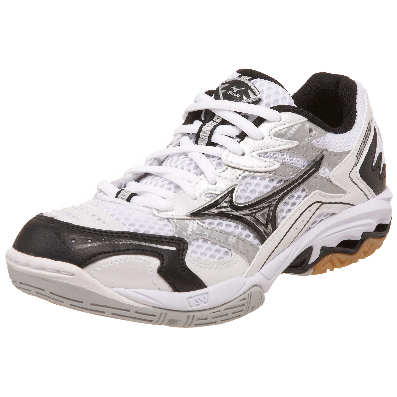 Mizuno Women's Wave Spike 12 Volleyball Shoe,White/Black,9.5 M