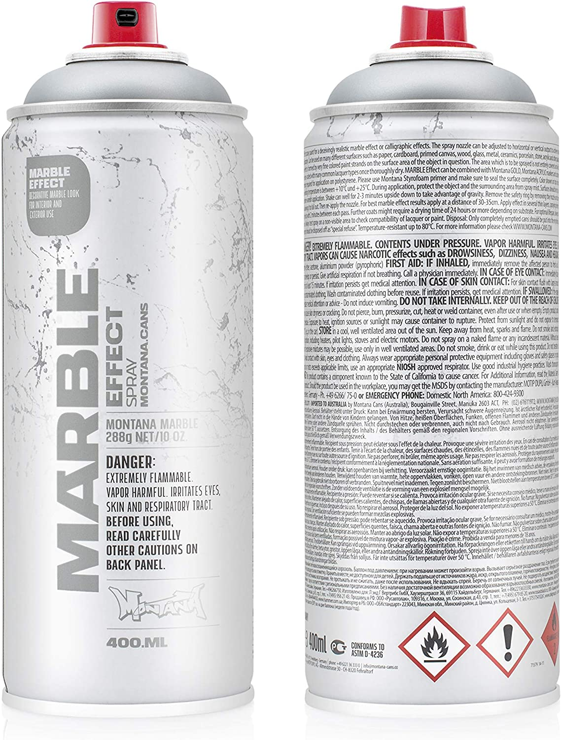 Montana Cans Marble Effect Silver Spray Paint