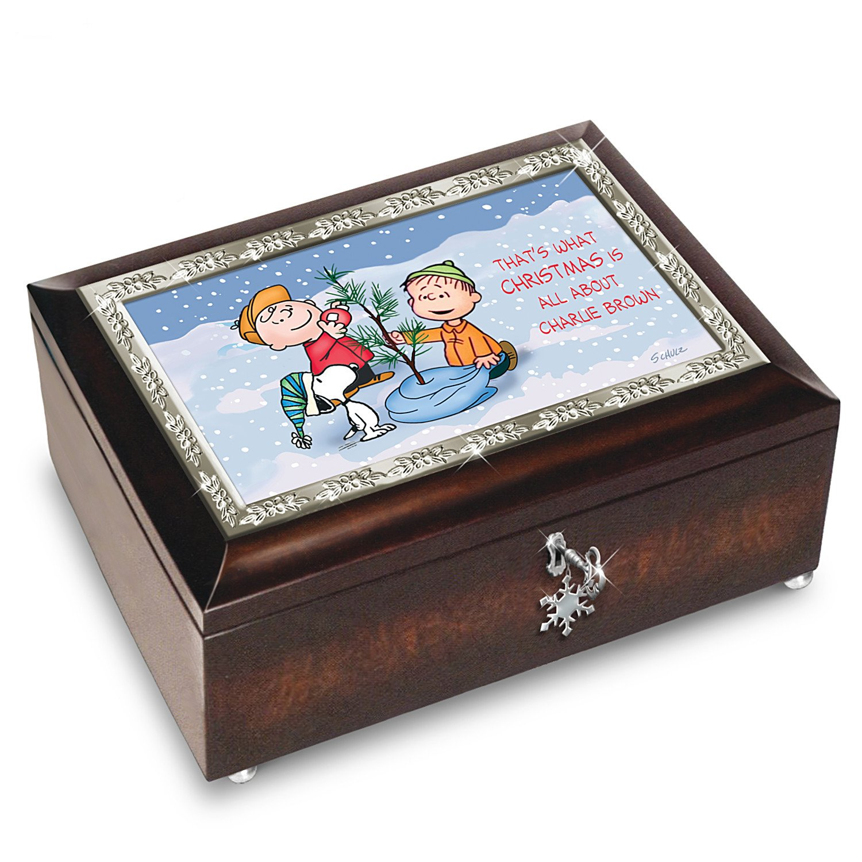 Amazon.com: A Charlie Brown Christmas 50th Anniversary Music Box ...