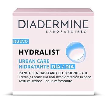 Diadermine - Hydralist Crema Hidratante de Día - Textura sedosa y sensación refrescante no grasa - 2 unidades de 50ml