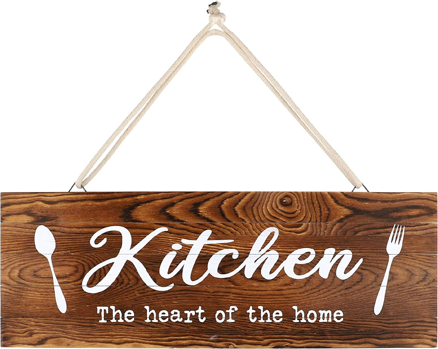 "whoaon Rustic Wood Home Sign, Kitchen. Real Pallet Wood Sign for Rustic Home Decor, Farmhouse Home Wall Decor with Kitchen Sign. 6"" x17"""