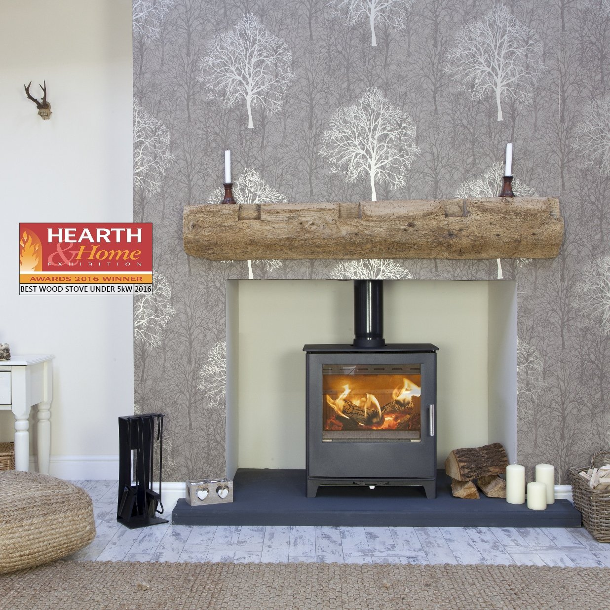 Mendip The Woodland 4 5 kW Multi Fuel/Wood Burning Stove: Amazon co