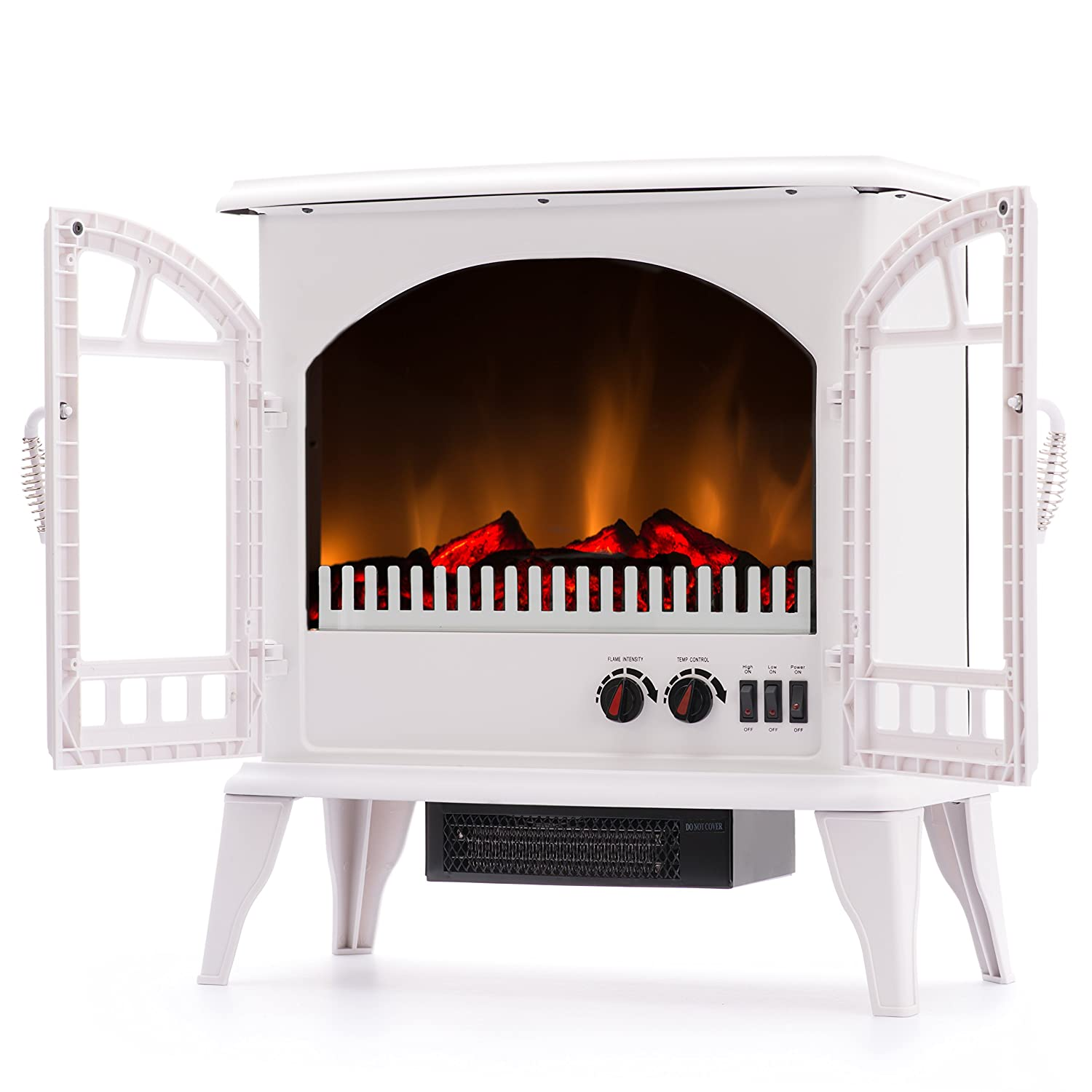 amazon com jasper portable free standing electric fireplace stove