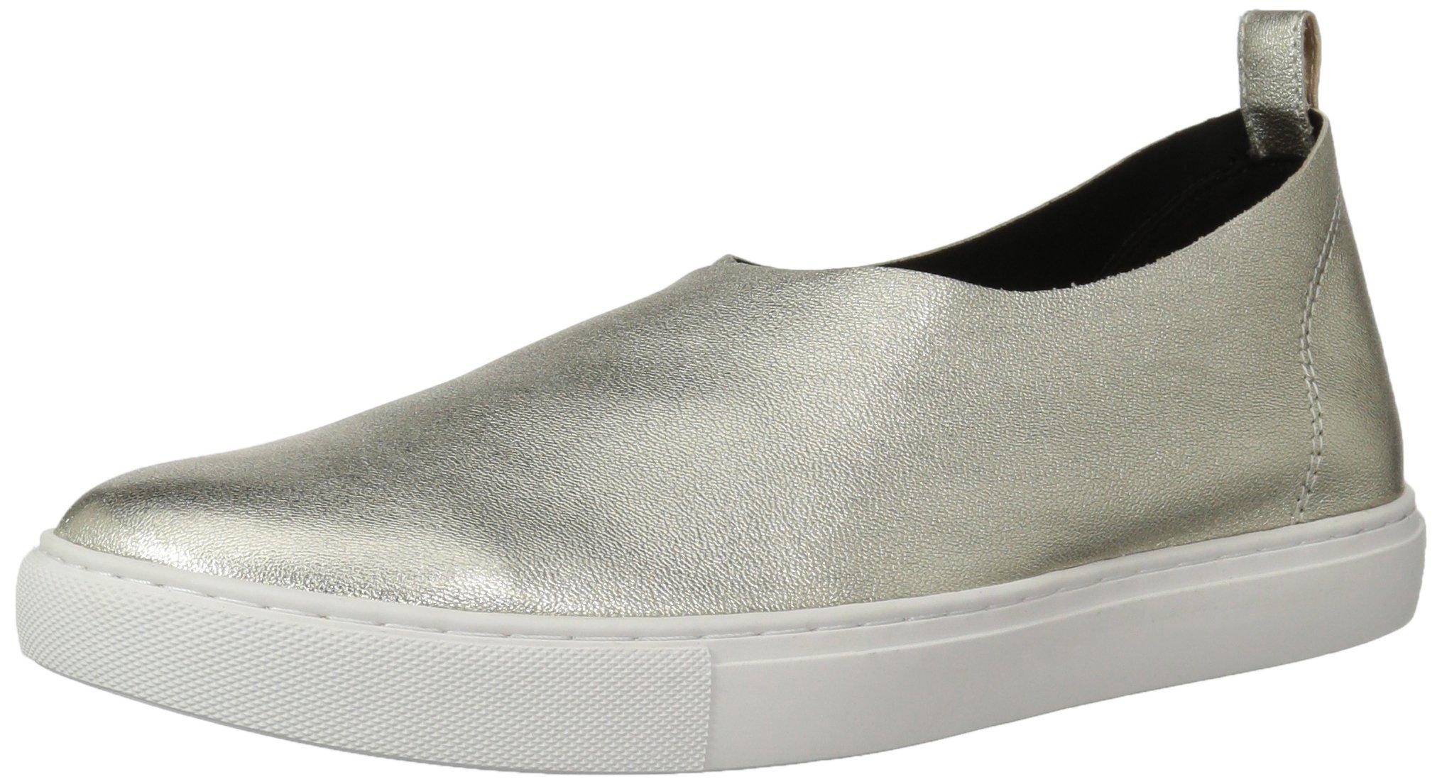 Kenneth Cole New York Women's Kathy Slip Stretch Upper Sneaker, Light Gold, 6.5 Medium US