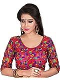 Women Ethnic Women'S Cotton Saree Blouse (2112_Multi-Coloured_Free Size)