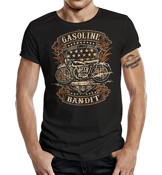 Gasoline Bandit Design Hot Rod Biker T Shirt Old School Biker