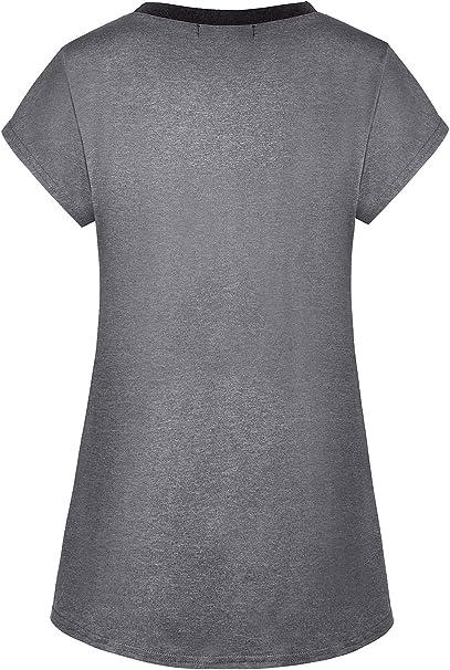 Yakestyle Womens Yoga Shirt Dri Fit Workout Top