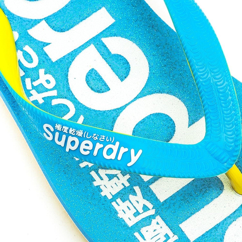 Superdry Damen, Himmelblau/Gelb, 36/37 EU