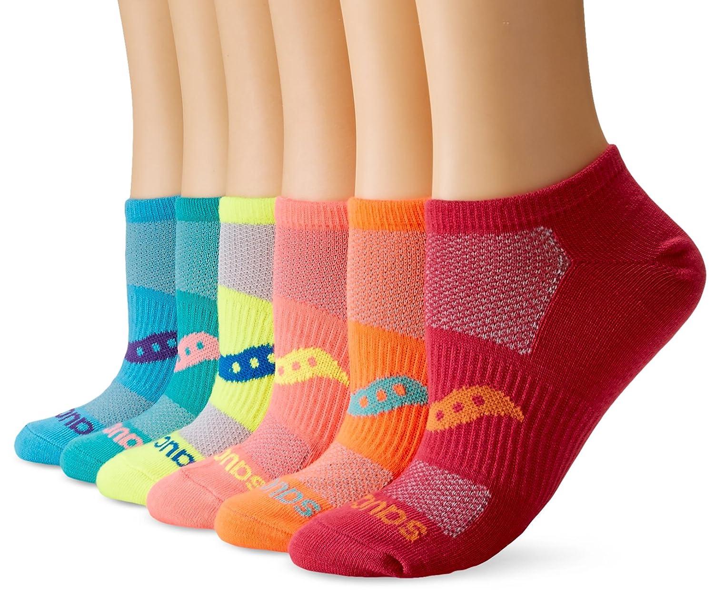 Saucony Women's 6 Pack Performance Super Lite No-Show Socks