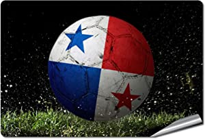 "ExpressItBest 5"" x 7"" Decal/Sticker/Skin with Flag of Panama - Soccer Ball in Net - UV Resistant - Outdoor Quality - Lasts for Years"