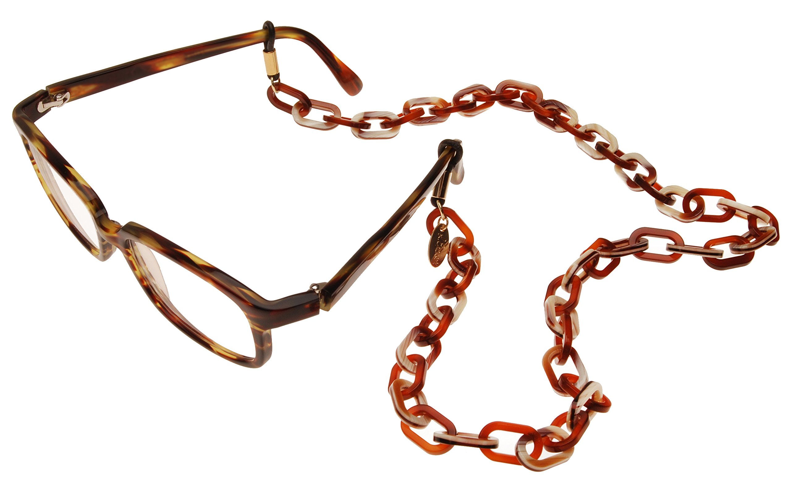 L. Erickson Brynn Oval Link Eyeglass Chain - Tortoise/Natural Horn by L. Erickson (Image #4)