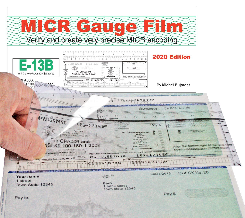 MICR Check Position Gauge Film for All Checks