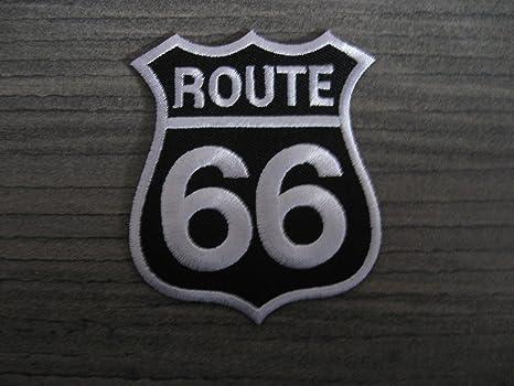 Patch ROUTE 66 Amerika USA Aufnäher Bügelbild Transfer Flicken