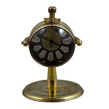 Antigüedad retro vintage ronda metal mesa reloj, 4 pulgadas: Amazon.es: Hogar
