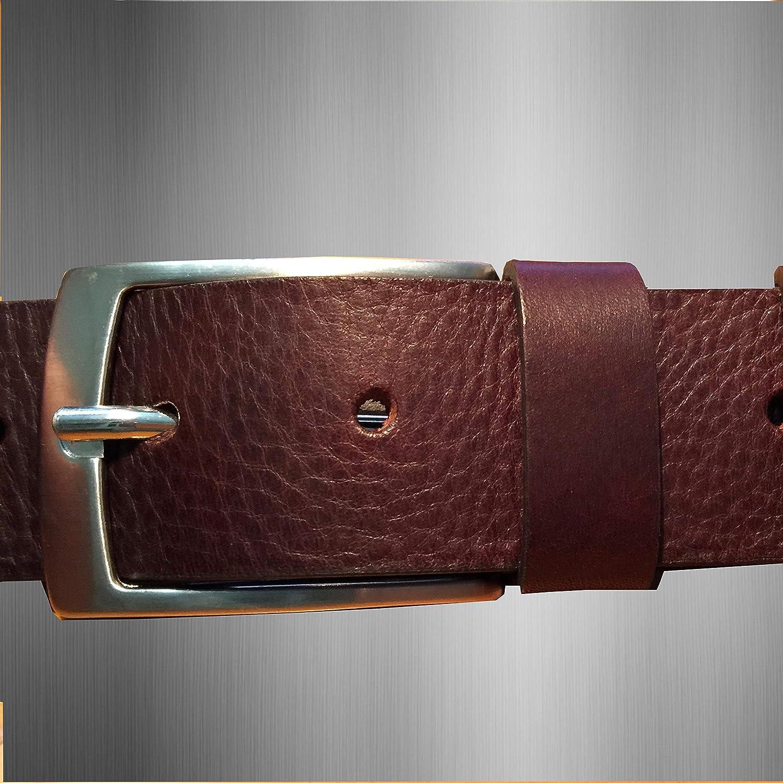 ELETTI Cintura Uomo In VERA PELLE 100/% MADE IN ITALY Marrone Nera Rossa Elegante Casual Resistente Idea Regalo Taglia Unica Regolabile Lunghezza max 130 Prodotto Esclusivo Alta Qualit/à
